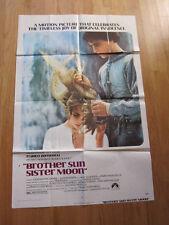 BROTHER SUN SISTER MOON 1973  poster Franco Zeffirelli