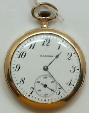Illinois 12 Size Open Face Art Nouveau 17 Jewel 1915 Pocket Watch Runs LW166