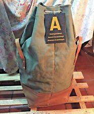 Swiss Army Big Sack Carrier Bag Leather Canvas Vintage Military original