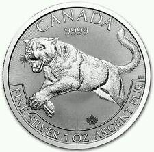 The 2016 Canadian 1oz Cougar 0.999 Silver Bullion Coin