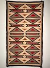 BEAUTIFUL NAVAJO CRYSTAL RUG, STRONG GRAPHIC OPTICAL DESIGNS, GOOD CONDITION, NR