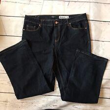 Ladies Dark Blue Denim Jeans Size 18 Leg 30 Bootcut New Look Inspire