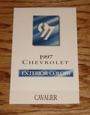 Original 1997 Chevrolet Cavalier Exterior Colors Foldout Sales Brochure 97 Chevy