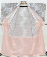 Japanese Kimono Vintage Komon / Silk 61inc./ (kimonomtfuji) 3nfuji32647