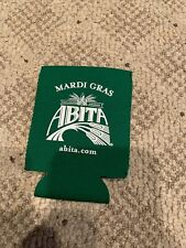Abita Craft Beer Can Bottle Koozie Pop Cooler Mardi Gras Green