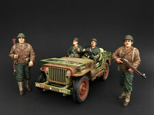 US ARMY WWII  4PC FIGURE SET 1:18 BY AMERICAN DIORAMA 77410,77411,77412,77413