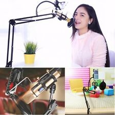 Universal Adjustable Microphone Phone Gooseneck Mount Holder + Pop Filter Kits