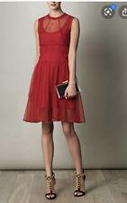 Carven Cóctel Vestido Rojo Talla 36