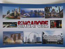 SINGAPORE - JUMBO FRIDGE MAGNET - Sentosa, Marina Bay, Orchard Road, Raffles