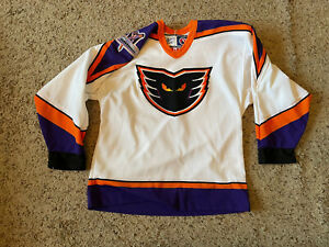 VTG 90s Philadelphia Phantoms Authentic Bauer AHL Hockey Jersey Youth Size L/XL