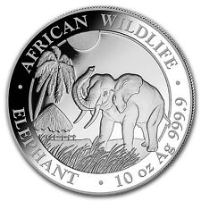 2017 Somalia 10 oz Silver Elephant BU - SKU #102912