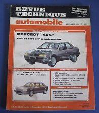 Revue technique  RTA 486 Peugeot 405 1580 et 1905 cm3 à carburateur