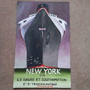 Oil Painting Art Deco New York Via Southampton By Simon Cole Wood Panel