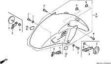 NOS OEM Honda Rubber Protector 1991-2008 VT1100 GL1500 VT750 81214-MT3-300