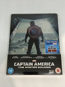 Captain America The Winter Soldier Blu Ray Steelbook (3D + 2D Edition) NEW!!