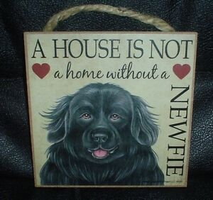 Newfoundland A House Is Not A Home Wooden Plaque
