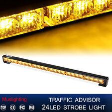 """27"""" 24 LED Emergency Warning Traffic Advisor Strobe Light Bar Top Roof Amber"""