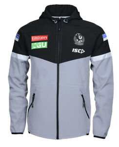 Collingwood Magpies AFL 2020 ISC Players Tech Pro Hoody Jacket Sizes S-5XL!