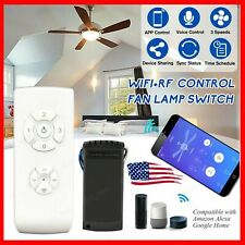 Smart WiFi Ceiling Fan Light Switch App Voice RF Remote Control For Alexa Google