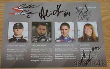 2016 Rev Racing signed Toyota Camry NASCAR K&N postcard Kern Garcia Avila Cabre