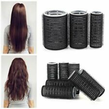 Black Large Self Grip Hair Rollers Hairdressing Curlers Professional Multi Size