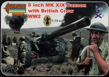 Strelets 1/72 6 Inch Mk.XIX Cannon with British Crew (WWII) # A004