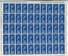 Repubblica - 1958/66 - Posta Pneumatica - Lire 20 Sassone n.21 - Foglio di 50