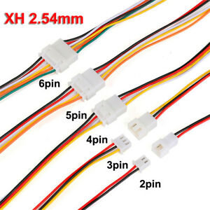 10sets XH2.54 2/3/4/5/6 Pin 2.54mm Wire Cable Connector XH Male & Female Cable
