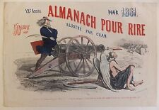 Almanach pour Rire Illustré par Cham 12ème Année 1861 Lithographie
