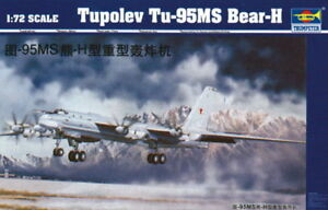 Trumpeter 9361601 Tupolev Tu-95 MS Bear-H Bomber 1:72 Flugzeug Modellbausatz