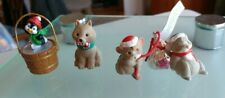 Hallmark Christmas Merry Miniatures 3 Piece Lot - 90s Dinky Rink, Hershey's, Dog
