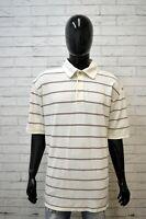 Maglia Bianca Uomo TOMMY HILFIGER Taglia Forte Shirt Man Big Size Polo a Righe