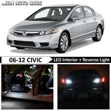 White Interior Reverse LED Lights Bulb Package Fits Honda Civic 2006-2012 Sedan