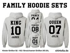 5x King Queen Princess Baby Hoodies Sweatshirt alle Größen Familie NEU 5 Stk.