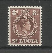 ST LUCIA 1946 GEORGE 6TH 8d BROWN SG,134c M/MINT LOT 6282A