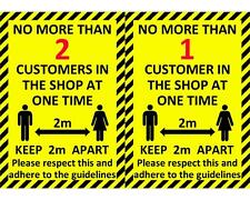 UPTO25% OFF 19COVID BLACK FRIDAY Laminated NO MORE 1 2 CUSTOMERS IN SHOP 2m sign