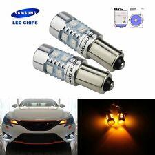 435 H21W BAY9s SAMSUNG 10 SMD Amber LED Sidelight Indicator Reverse Light Bullb