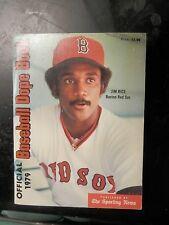 Vintage baseball dope book pictures stats sporting news records 1979 Jim Rice