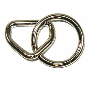 "Nickle Plated 1"" Loop and 1-1/8"" Ring - 10 Pack"