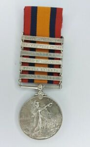 Boer War The Queen's South Africa Medal with six clasps. Royal Irish Fusiliers