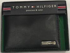 New Tommy Hilfiger Men's Leather Passcase & Valet Wallet Black Color $14.50