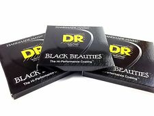 DR Guitar Strings Electric K3 Black Beauties High Performance 3 Packs 10-52