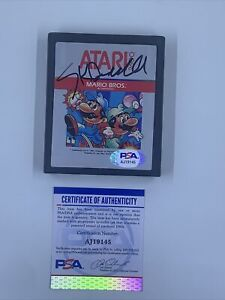 Nolan Bushnell Signed Atari 2600 Mario Brothers Video Game Cartridge PSA/DNA
