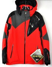 Spyder Mens Leader Gore-Tex Snow Ski Jacket 181718 Red Cloudy Size XXL