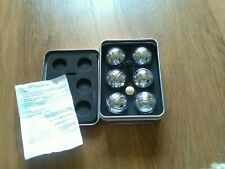 New Mini Boules Contains 6 Mini Boules 1 Wooden Ball & Thread Measure