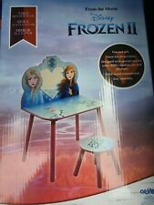Disney Frozen 2 Wooden Vanity Set Table With Mirror And Stool NEW