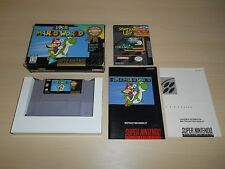 Super Mario World Complete SNES Super Nintendo CIB Original Game Manual Box