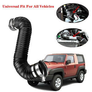 """Car Adjustable 3""""Washable Car Turbo Cold Air Intake Pipe Hose Tube Set Exquisite"""