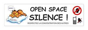 Sticker signalétique plastifié OPEN SPACE - 29cm x 8cm