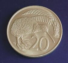 exact coin - 1967 20c New Zealand 20 Cent Coin Kiwi Queen Elizabeth II
